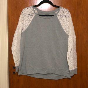 Apt 9 lace sleeve sweatshirt